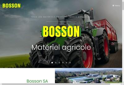 Site internet de Bosson Holding