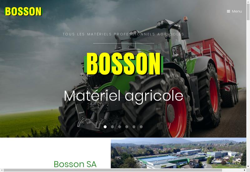Capture d'écran du site de Bosson Holding
