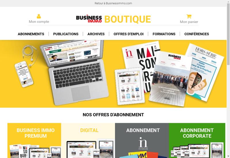Capture d'écran du site de Business Immo