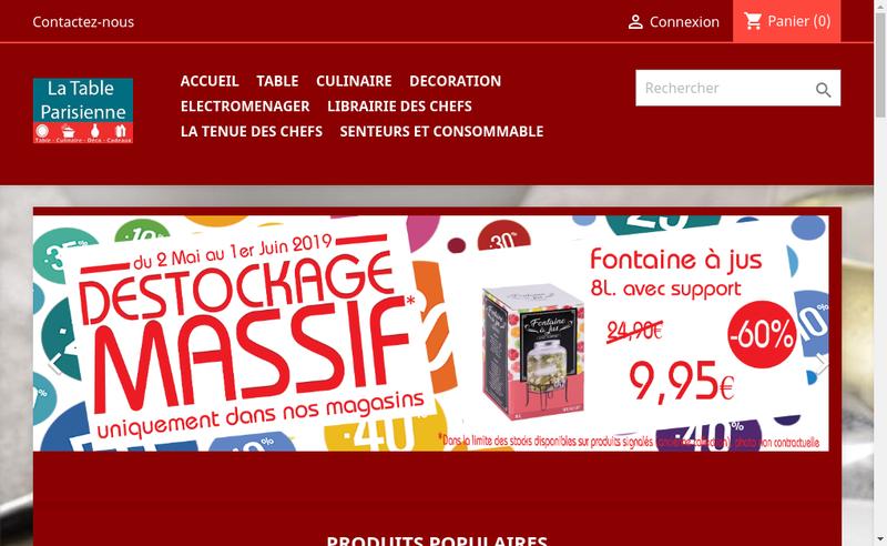 Capture d'écran du site de Comex Import