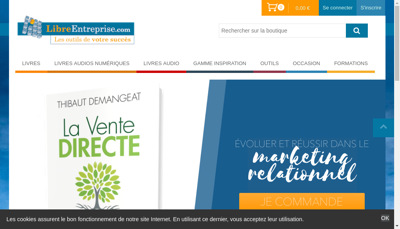 Capture d'écran du site de WMI