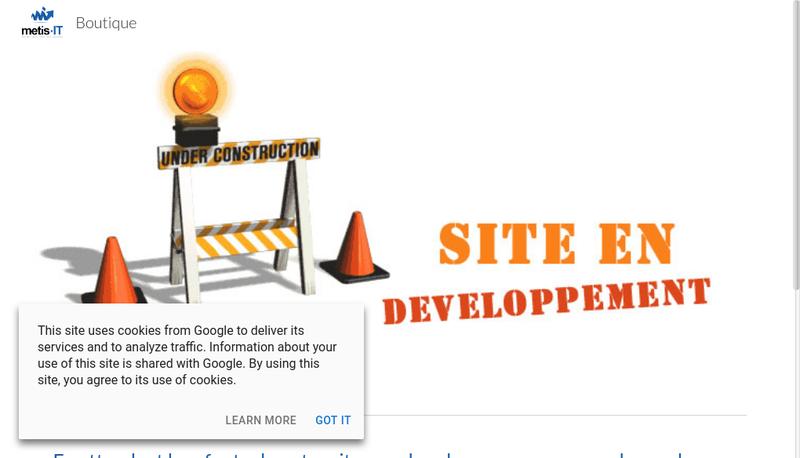 Capture d'écran du site de Metis It