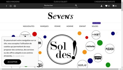 Site internet de Seven'S