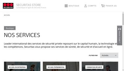 Capture d'écran du site de Securitas France SARL