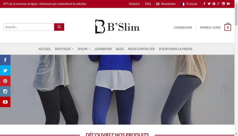 Capture d'écran du site de Wellness Company Sas
