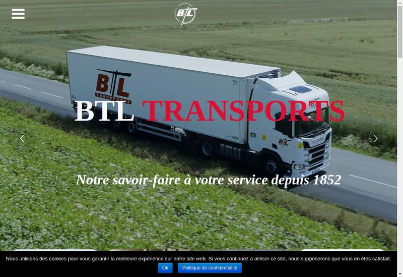 Capture d'écran du site de Btl Transports