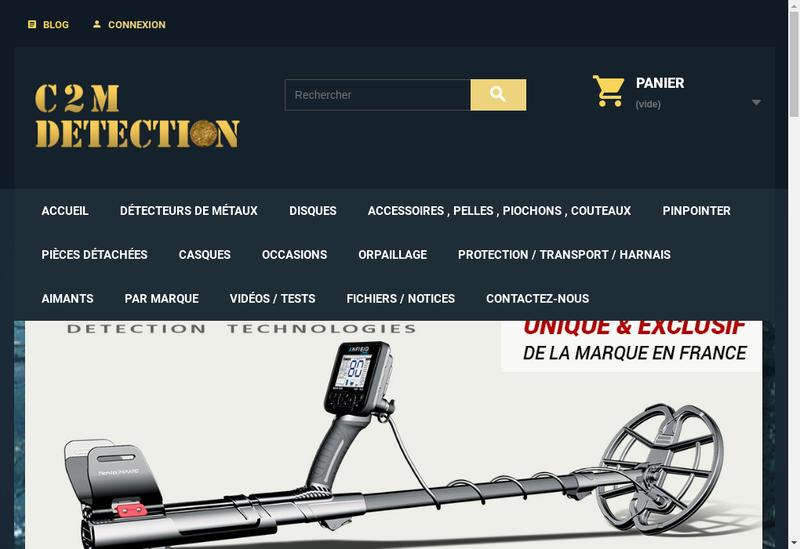 Capture d'écran du site de C 2 M