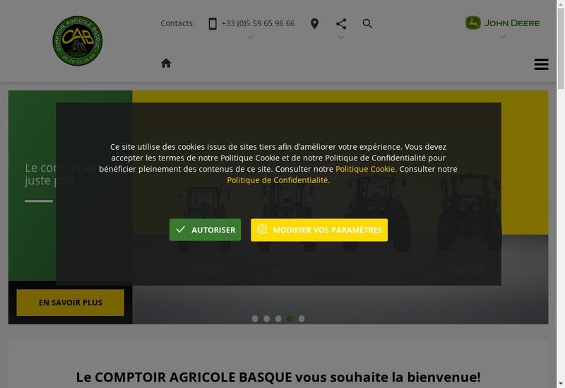 Capture d'écran du site de Comptoir Agricole Basque