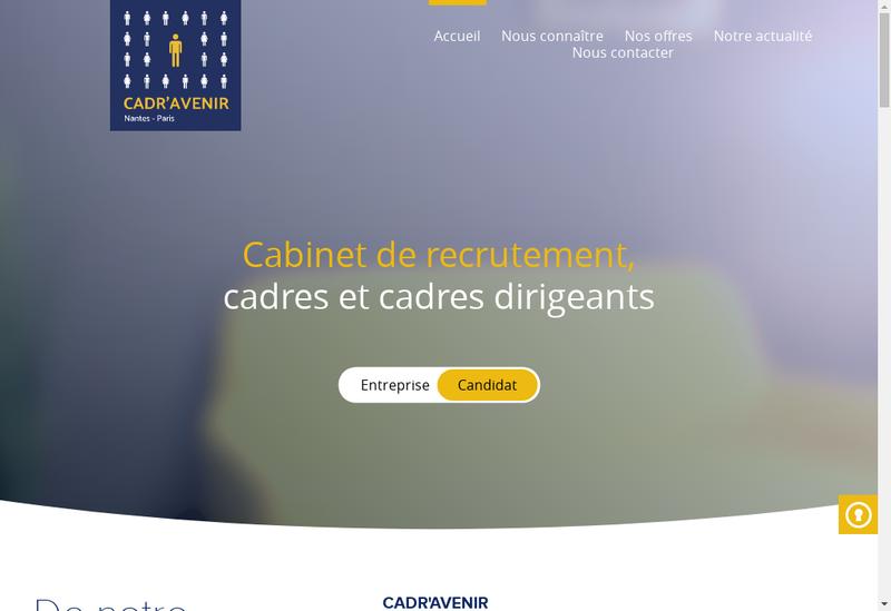 Capture d'écran du site de Cadr Avenir