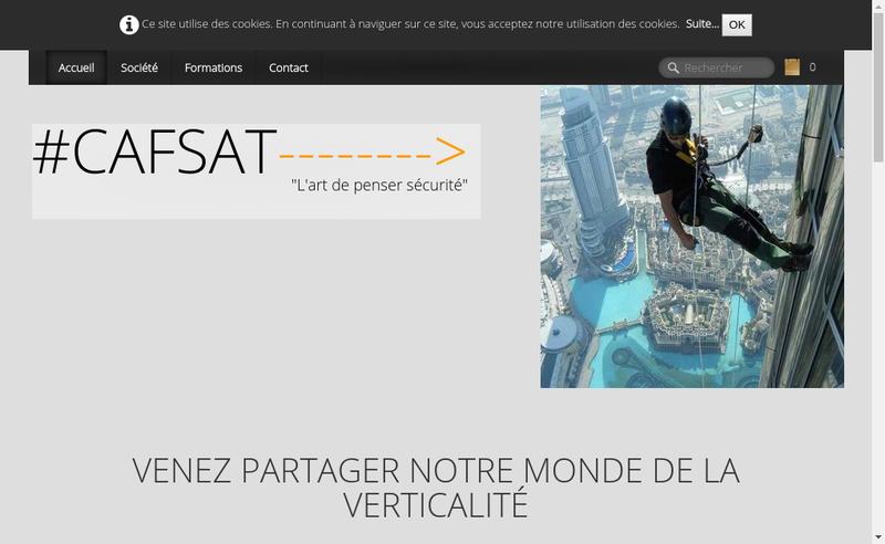 Capture d'écran du site de Cafsat