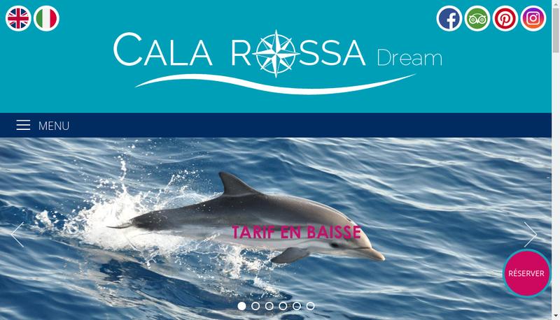 Capture d'écran du site de Cala-Rossa Location