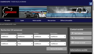 Site internet de Calend'Auto