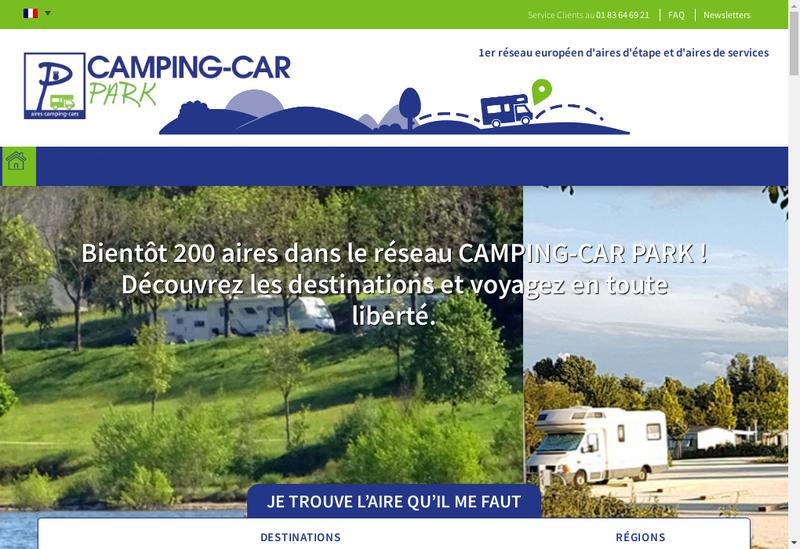 Capture d'écran du site de Camping-Car Park
