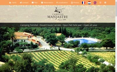 Site internet de Camping Manjastre