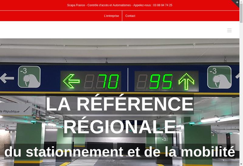 Capture d'écran du site de Scapa