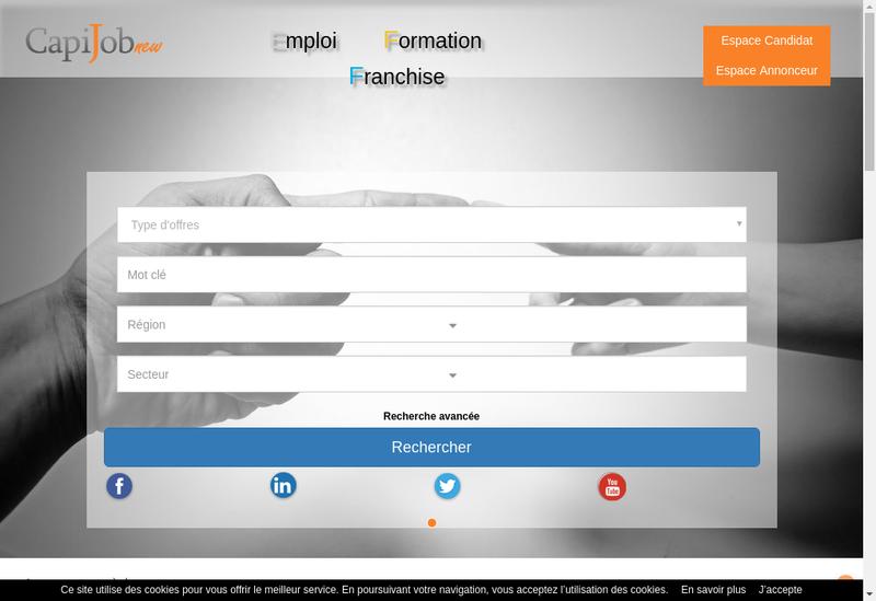 Capture d'écran du site de Capivision