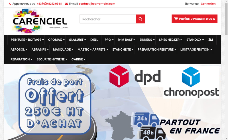Capture d'écran du site de Car-en-Ciel