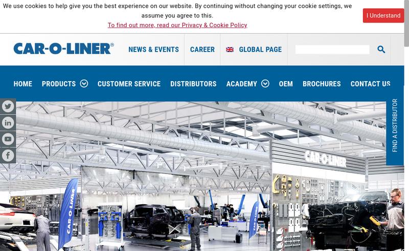 Capture d'écran du site de Car-O-Liner SAS