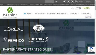 Site internet de Carbios
