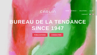 Site internet de Groupe Carlin International