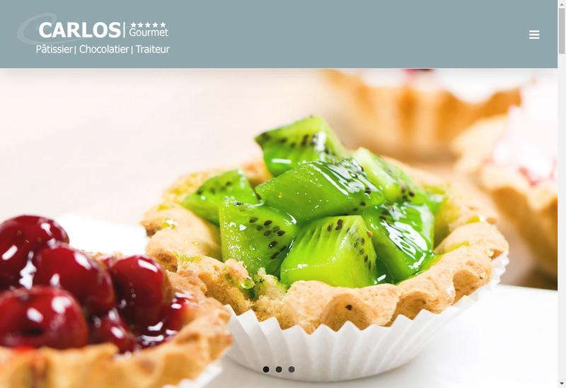 Capture d'écran du site de Carlos Gourmet