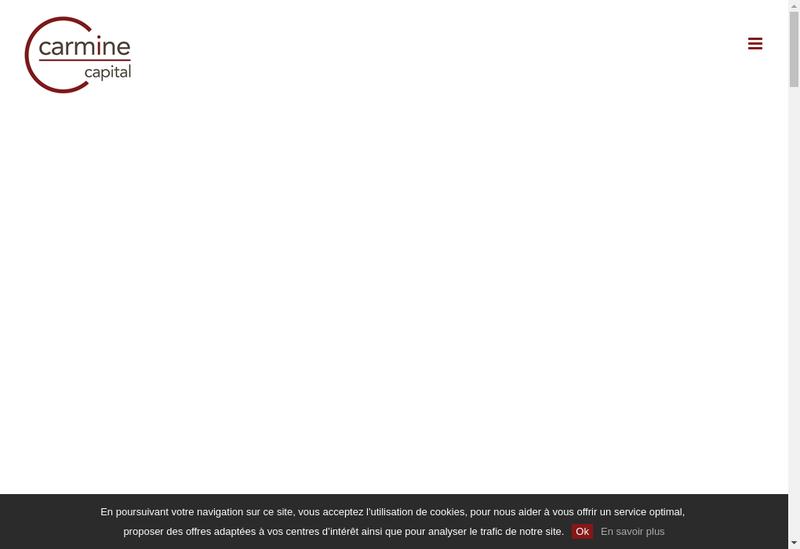 Capture d'écran du site de Carmine Capital