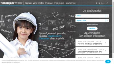 Capture d'écran du site de Apside