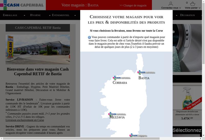 Capture d'écran du site de Cash Capembal