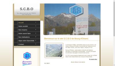 Capture d'écran du site de SCBO