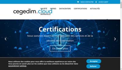 Site internet de Cegedim Cloud