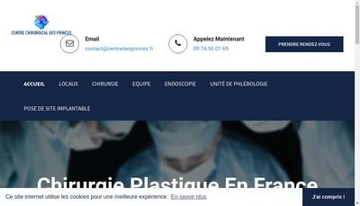 Site internet de Centre Chirurgical des Princes