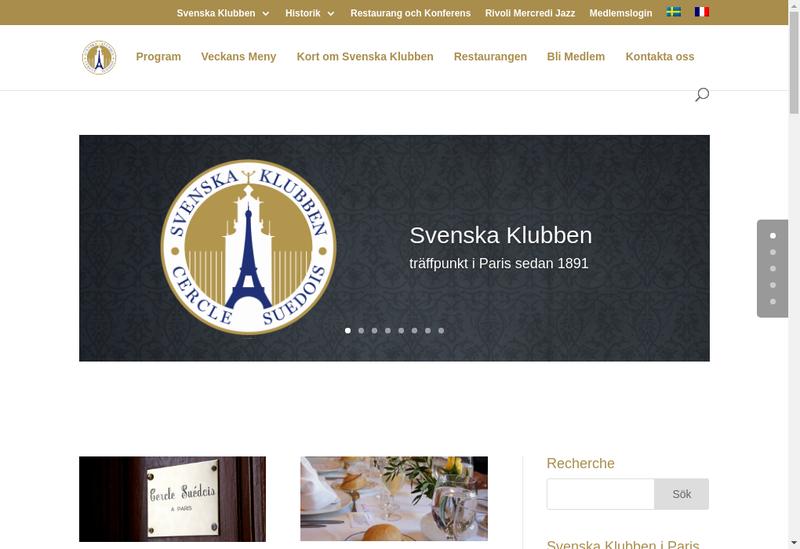 Capture d'écran du site de Le Restaurant du Cercle Suedois