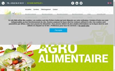 Site internet de CGL Pack Lorient