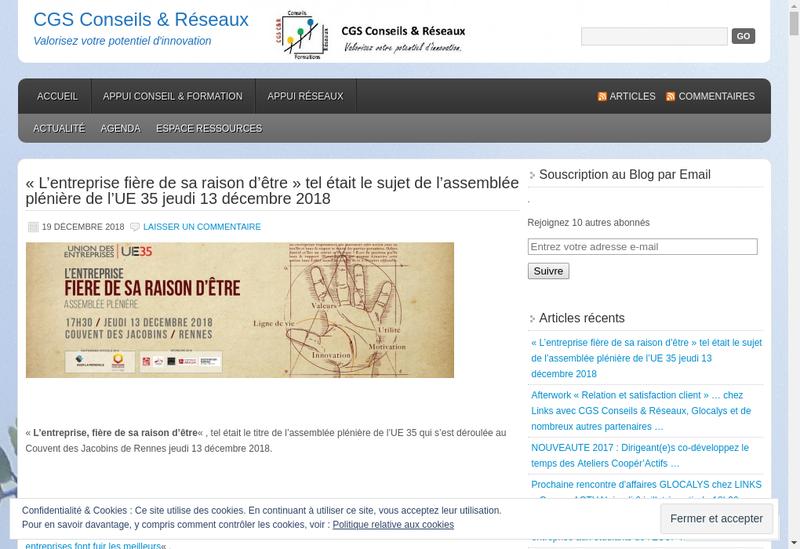 Capture d'écran du site de Verteam