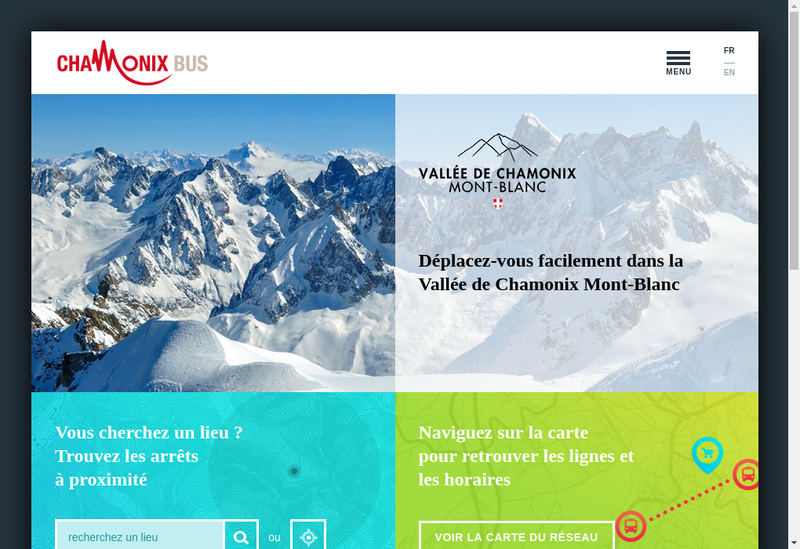 Capture d'écran du site de Mont Blanc Bus