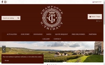 Site internet de Champagne G Tribaut