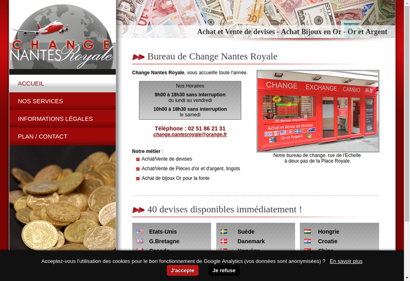 Capture d'écran du site de Change Nantes Royale