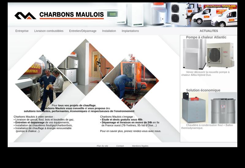 Capture d'écran du site de Les Charbons Maulois