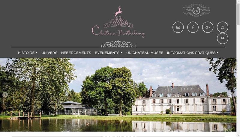 Capture d'écran du site de SAS Chateau Barthelemy