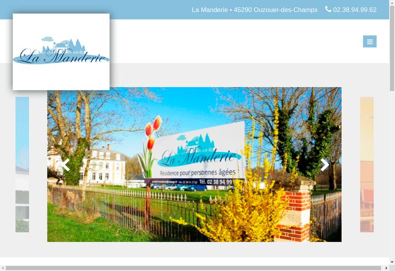 Capture d'écran du site de Chateau de la Manderie