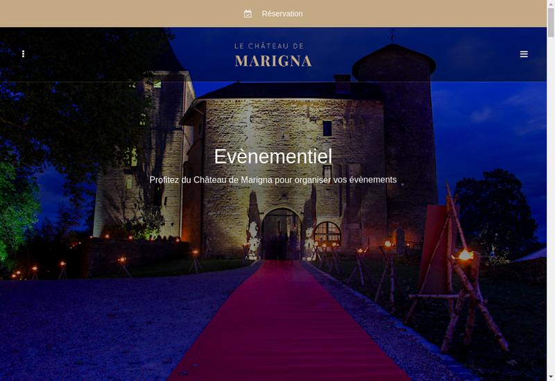 Capture d'écran du site de Chateau de Marigna