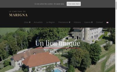 Site internet de Chateau de Marigna