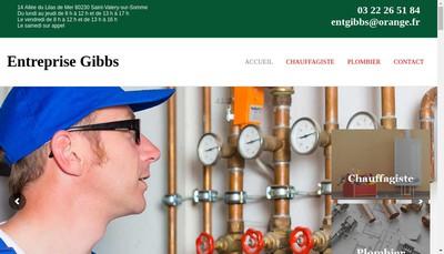 Site internet de Entreprise Gibbs