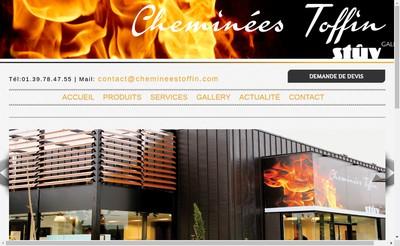 Site internet de Cheminees Toffin