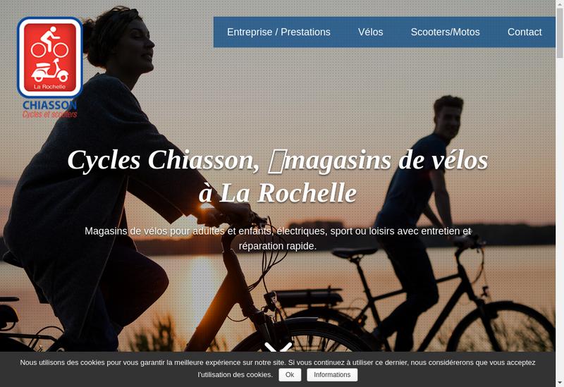 Capture d'écran du site de Cycles Chiasson