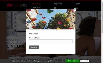 Site internet de Chic Paris