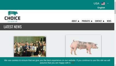 Site internet de Choice Genetics France