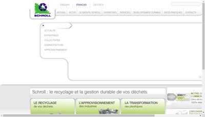 Capture d'écran du site de Schroll