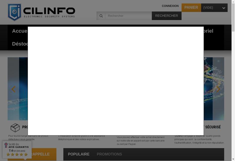 Capture d'écran du site de Cilinfo
