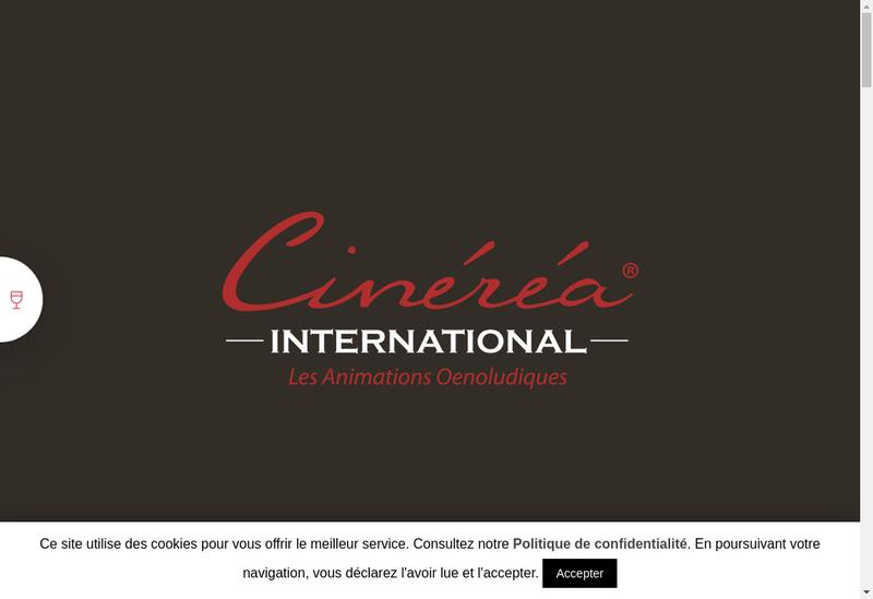 Capture d'écran du site de Cinerea